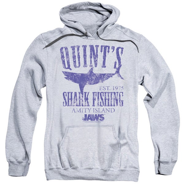 Jaws/Quints Adult Pull-Over Hoodie in Athletic Heather