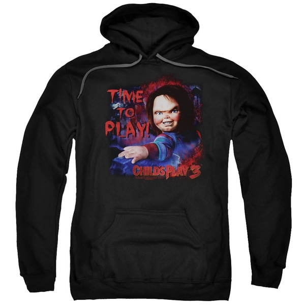 Childs Play 3/Time To Play Adult Pull-Over Hoodie in Black