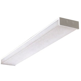 Y-Decor White Acrylic and Steel 48-inch Double-bulb Fluorescent Utility light