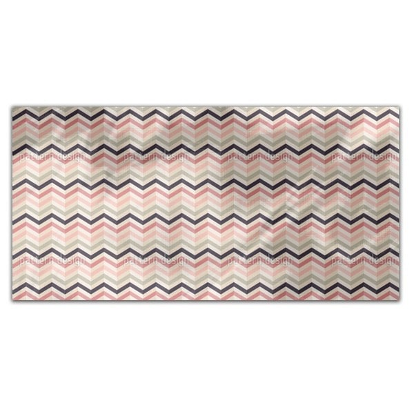 Chevron Blush Rectangle Tablecloth