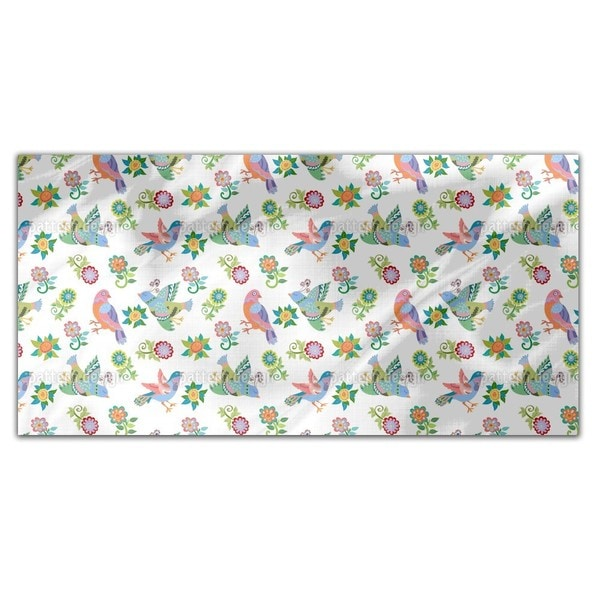 Birds And Flowers Rectangle Tablecloth