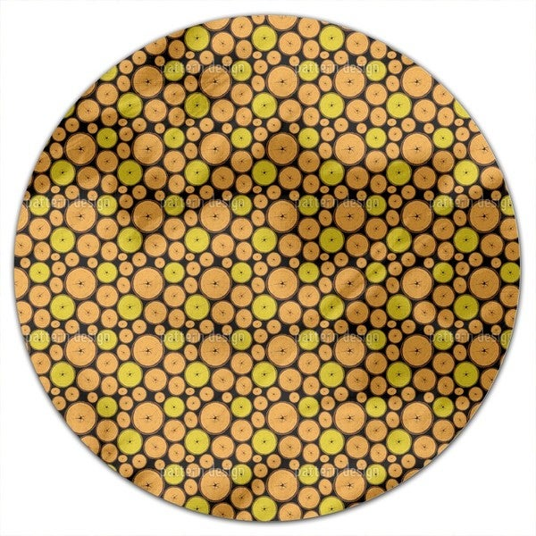 Wood Slices Round Tablecloth