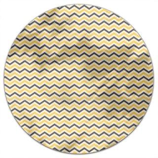 Bee Chevron Round Tablecloth