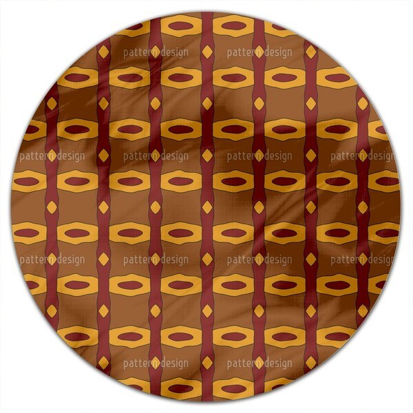 Sunset In Appalachia Round Tablecloth