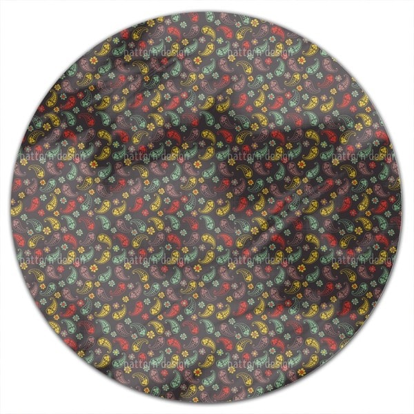 Autumn Of Paisley Mix Round Tablecloth