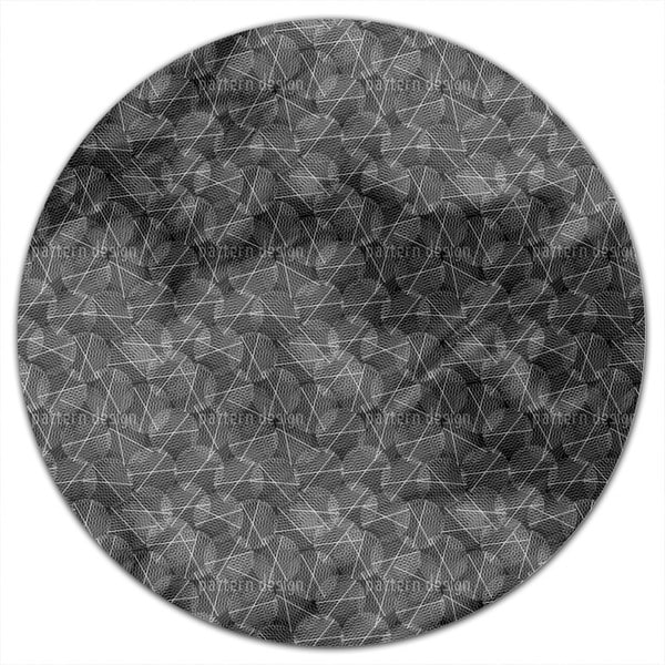 Reticular Circles Round Tablecloth