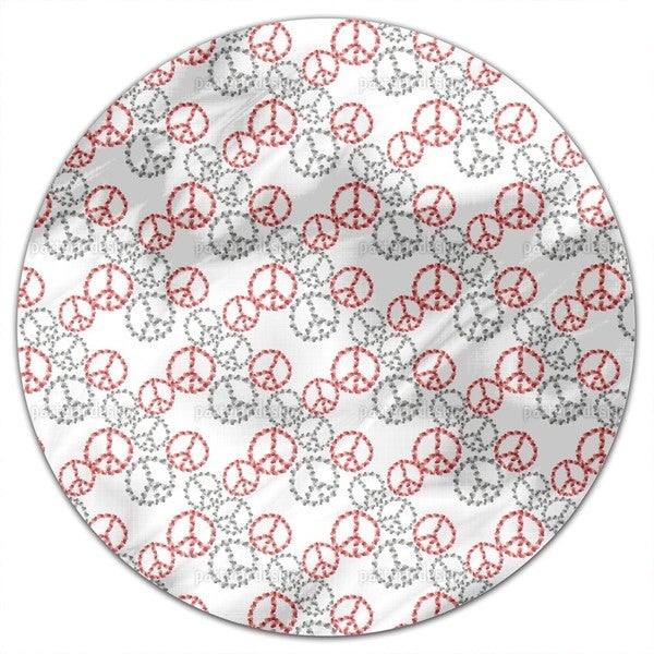 Peace Revival White Round Tablecloth