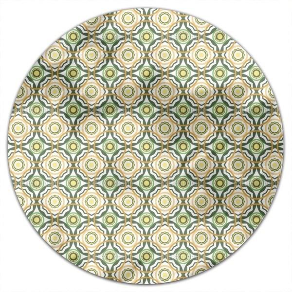 Greek Shields Round Tablecloth