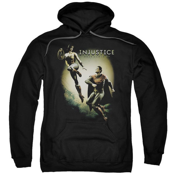 Injustice Gods Among Us/Battle Of The Gods Adult Pull-Over Hoodie in Black