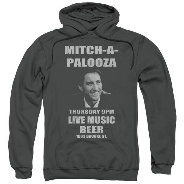 Old School/Mitchapalooza Adult Pull-Over Hoodie in Charcoal