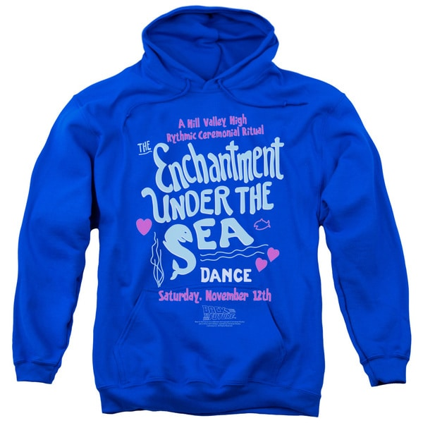 Back To The Future/Under The Sea Adult Pull-Over Hoodie in Royal Blue