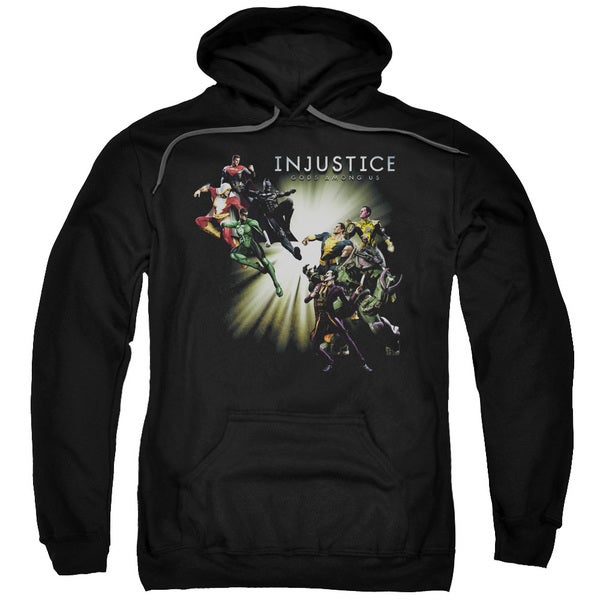 Injustice Gods Among Us/Good Vs Evil Adult Pull-Over Hoodie in Black