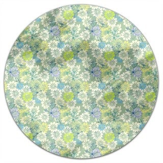 Spring Loves All The Flowers Round Tablecloth