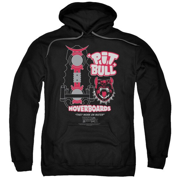 Back To The Future Ii/Pit Bull Adult Pull-Over Hoodie in Black