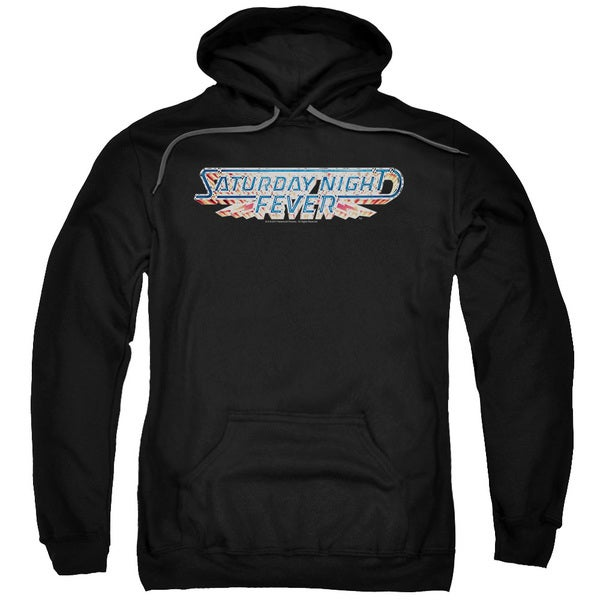 Saturday Night Fever/Logo Adult Pull-Over Hoodie in Black