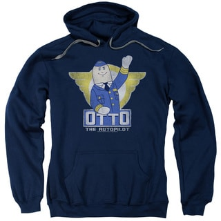 Airplane/Otto Adult Pull-Over Hoodie in Navy