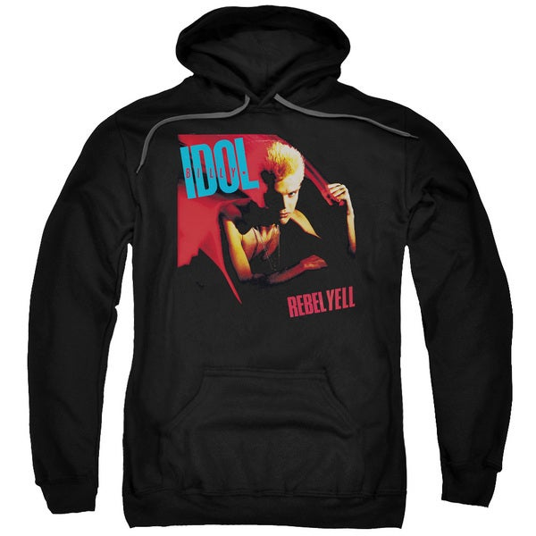 Billy Idol/Rebel Yell Adult Pull-Over Hoodie in Black