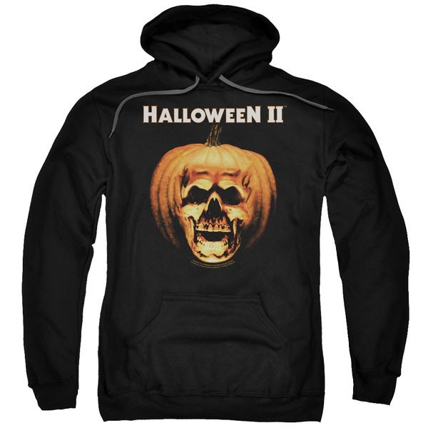 Halloween Ii/Pumpkin Shell Adult Pull-Over Hoodie in Black