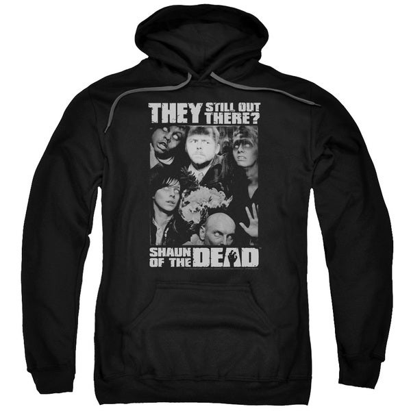 Shaun Of The Dead/Still Out There Adult Pull-Over Hoodie in Black
