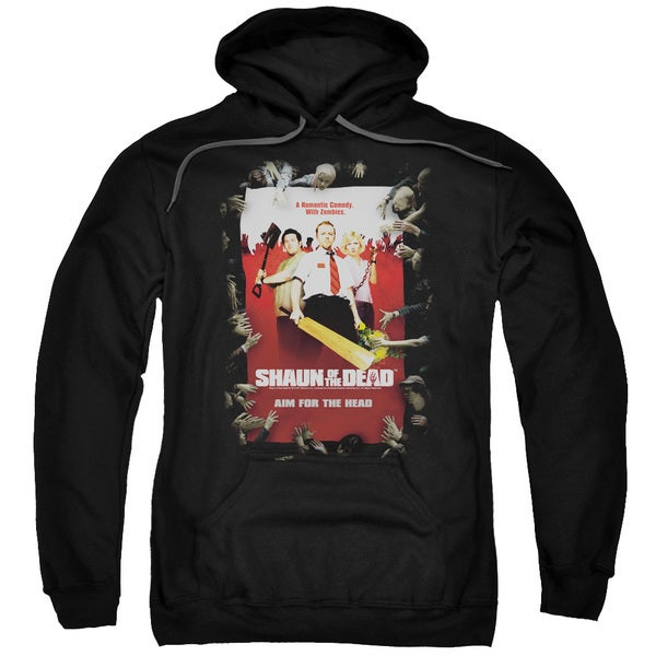 Shaun Of The Dead/Poster Adult Pull-Over Hoodie in Black