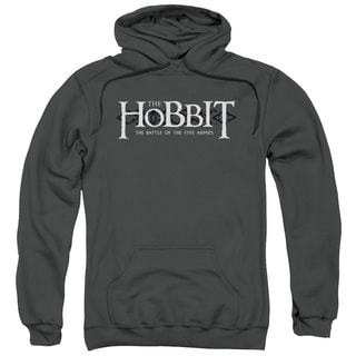 Hobbit/Ornate Logo Adult Pull-Over Hoodie in Charcoal