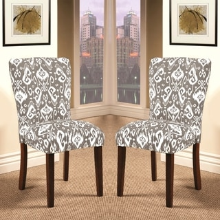 Alexandra Parson Styled Ikat Patterned Dining Chairs (Set of 2)