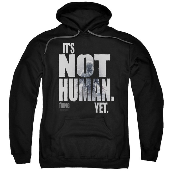 Thing/Not Human Yet Adult Pull-Over Hoodie in Black