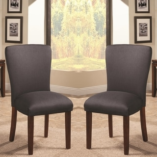 Black Parson Styled Dining Chairs (Set of 2)