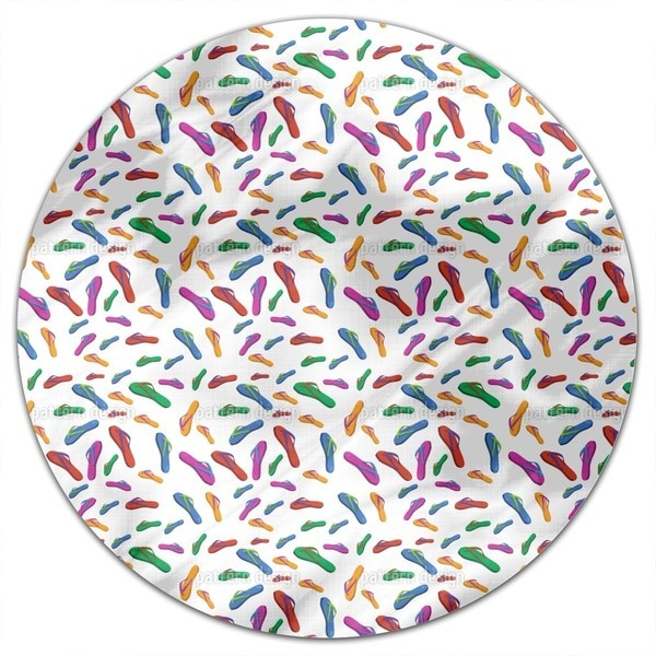 Summer Flip Flops Round Tablecloth