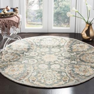 Safavieh Handmade Bella Grey/ Multi Wool Rug (5' Round)