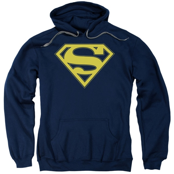 Superman/Maize &Amp; Blue Shield Adult Pull-Over Hoodie in Navy