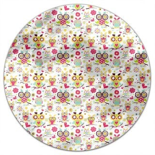 Owl Family Round Tablecloth