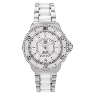 Tag Heuer Women's 'Formula 1' WAU2213.BA0861 Stainless Steel 1/2ct TDW Diamond Ceramic Link Watch