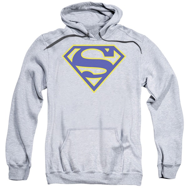 Superman/Maize &Amp; Blue Shield Adult Pull-Over Hoodie in Athletic Heather