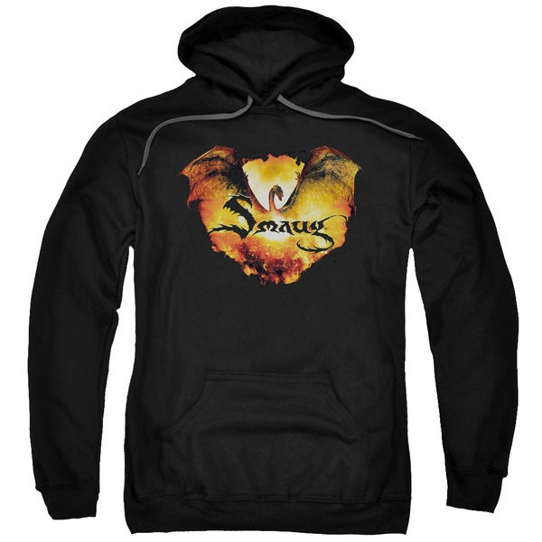 Hobbit/Reign in Flame Adult Pull-Over Hoodie in Black