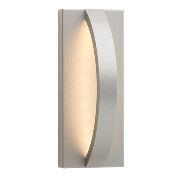 LBL Hunter 10 1-light Silver Outdoor Wall Sconce 18718874