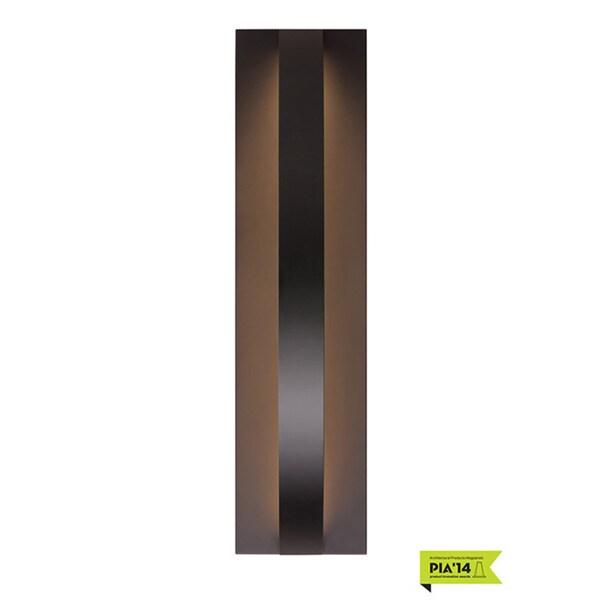 LBL Hunter 24 1-light Black Outdoor Wall Sconce 18718878