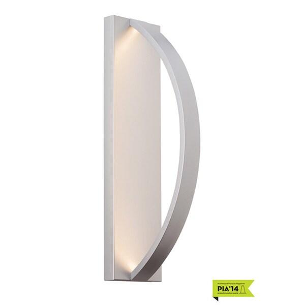 LBL Hunter 24 1-light Silver Outdoor Wall Sconce 18718879