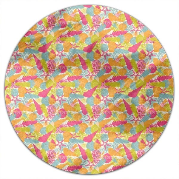 The Summer In The Sea Round Tablecloth