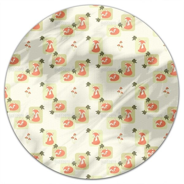 The Cunning Little Vixen Round Tablecloth