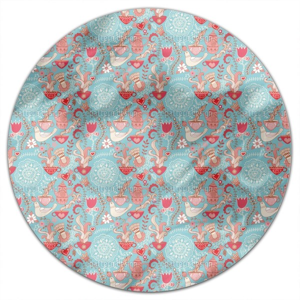 Tea Party Round Tablecloth