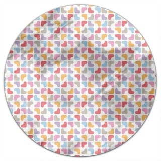 Soft Hearts Round Tablecloth