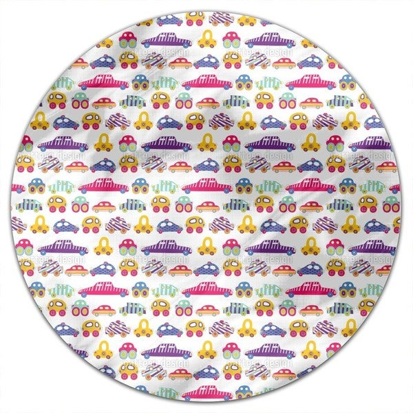 Car Convoy Round Tablecloth