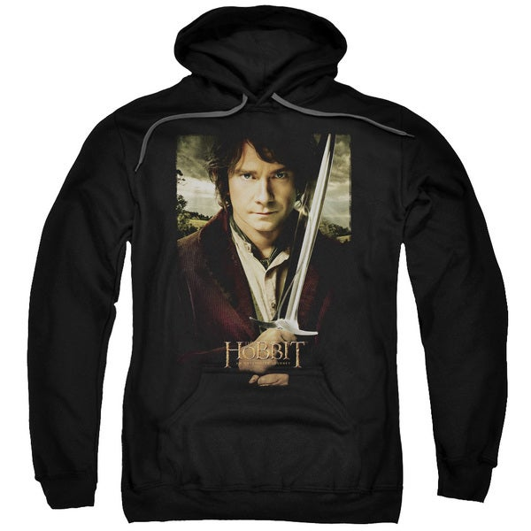 The Hobbit/Baggins Poster Adult Pull-Over Hoodie in Black