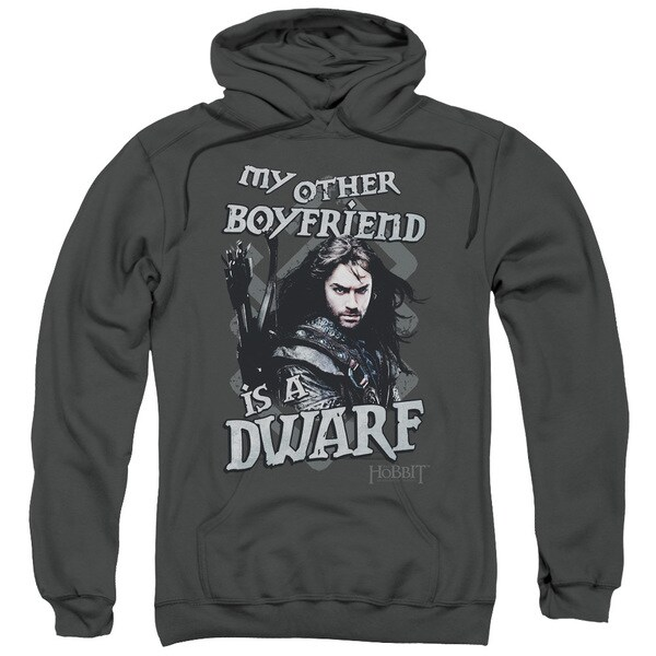 The Hobbit/Other Boyfriend Adult Pull-Over Hoodie in Charcoal