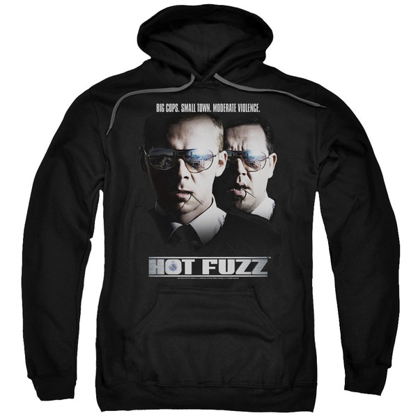 Hot Fuzz/Big Cops Adult Pull-Over Hoodie in Black