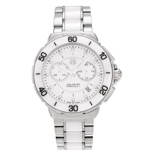 Tag Heuer Women's 'Formula 1' CAH1211.BA0863 Ceramic Diamond Accent Link Watch