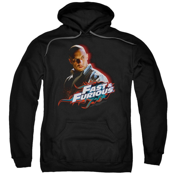 Fast &Amp; Furious/Toretto Adult Pull-Over Hoodie in Black
