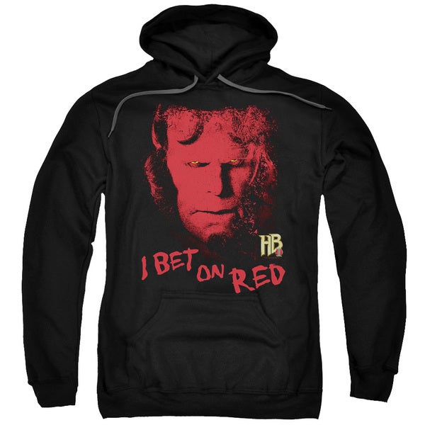 Hellboy Ii/I Bet On Red Adult Pull-Over Hoodie in Black