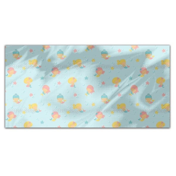 Playful Mermaids Rectangle Tablecloth